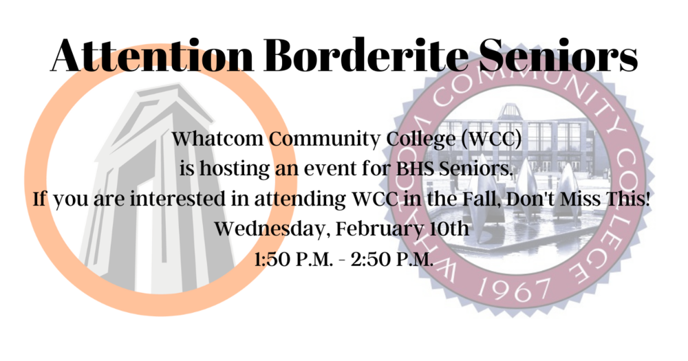 WCC Event for Seniors Feb. 10th