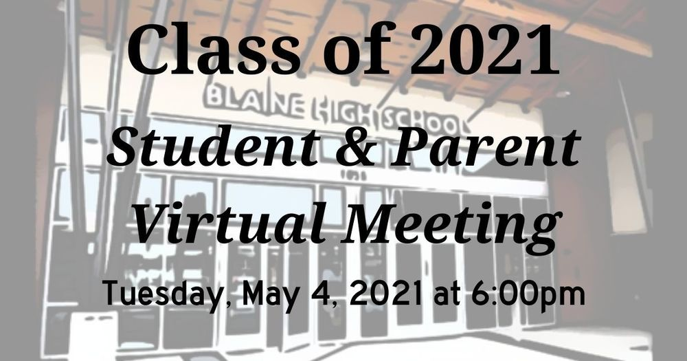Senior Student and Parent Meeting - May 4