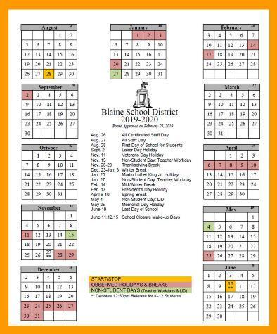 2019-2020 Base Calendar Approved