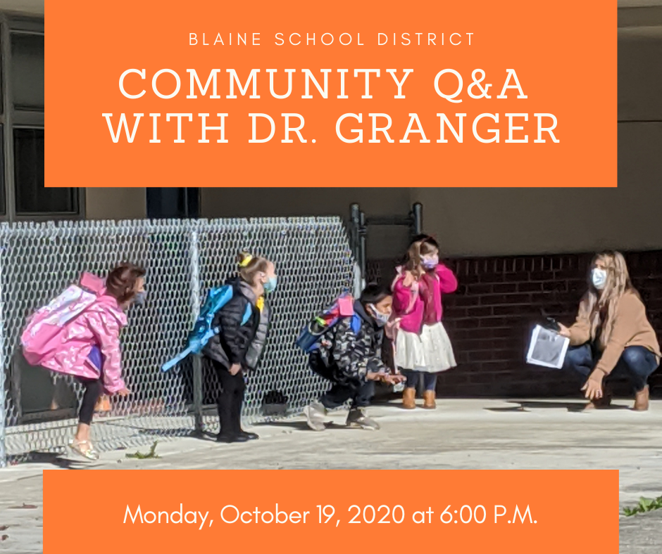 Community Q & A Monday, Oct. 19, 2020