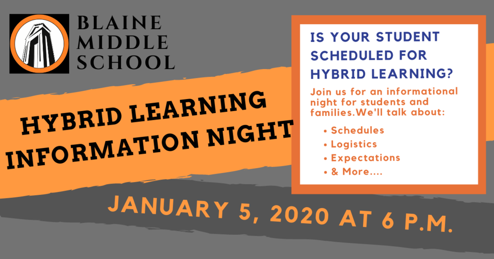 BMS Hybrid Learning Information Night Jan 5th