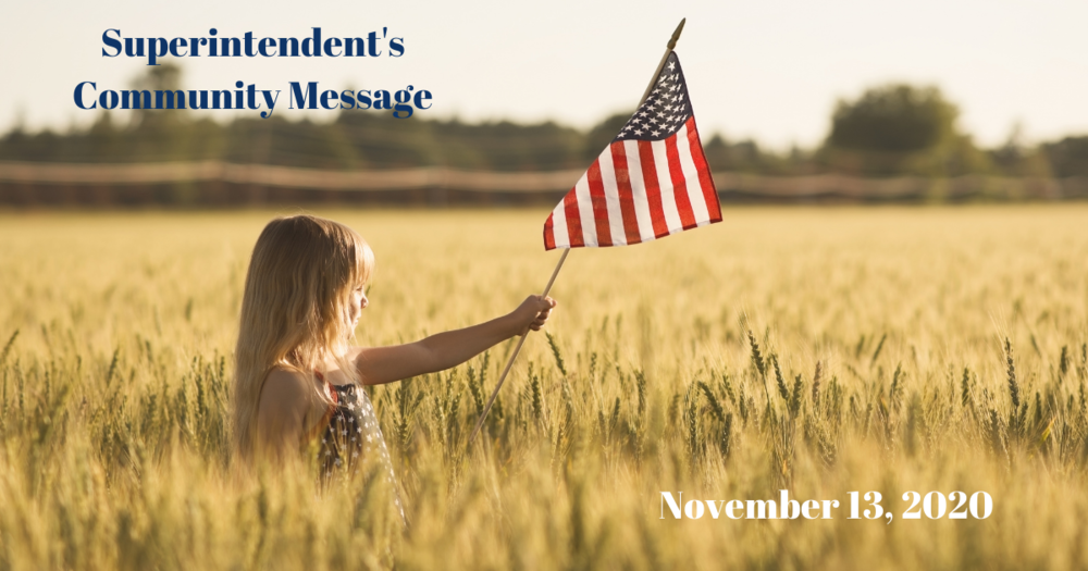 Superintendent's Message November 13, 2020