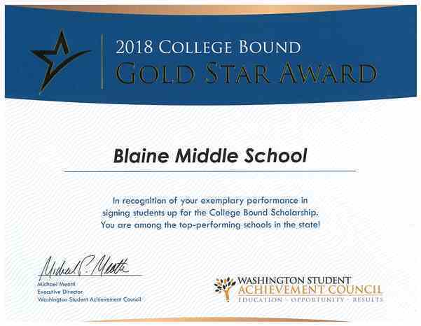 BMS Receives Gold Star Award