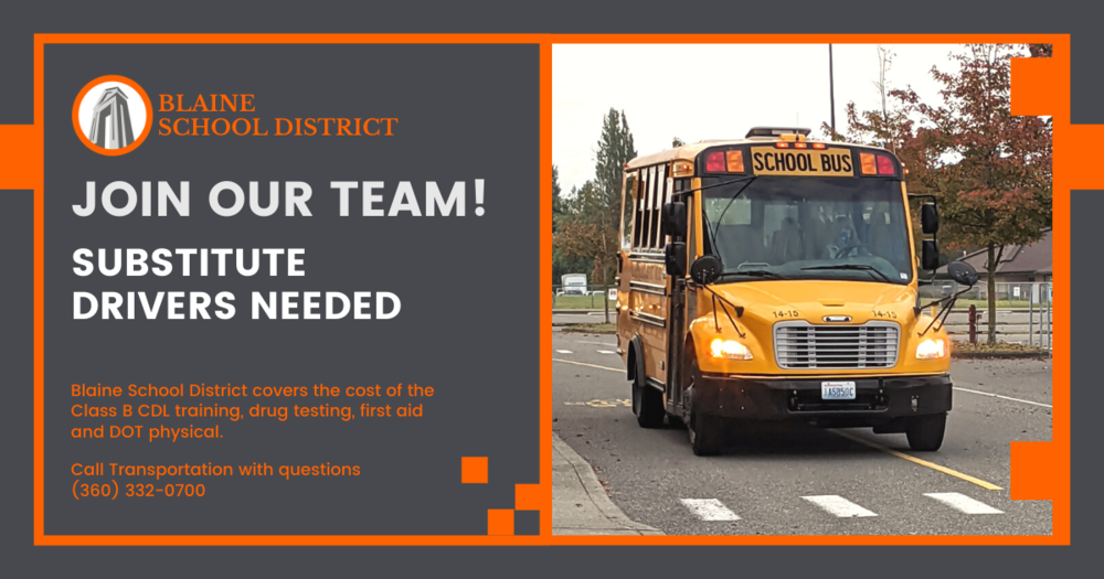 Substitute School Bus Drivers Needed