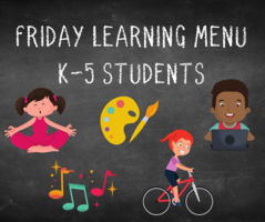 Friday Learning Menu