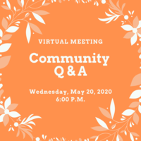 Community Q & A Wednesday, May 20, 2020