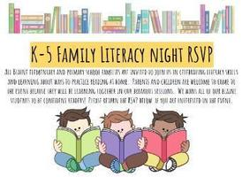 K-5 Family Literacy Night on March 13