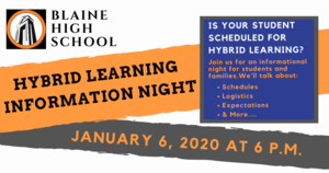 BHS Hybrid Learning Information Night Jan 6th