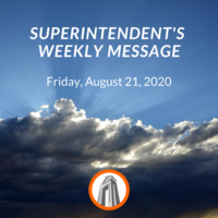 Superintendent's Message August 21, 2020