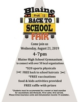 Back to School Fair on August 21
