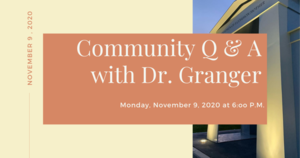 Community Q & A Monday, Nov. 9, 2020