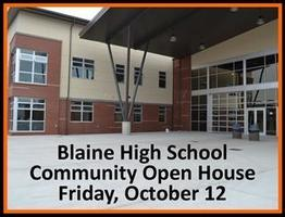 BHS Community Open House on Oct. 12