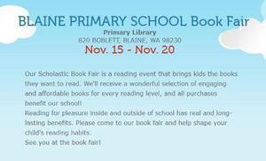 Primary School Book Fair, Nov. 15-20