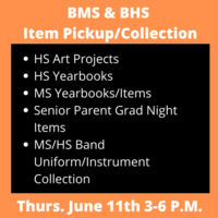 BMS & BHS Item Pickup and Collection