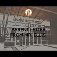 Letter to Parents and Students from Mr. Ellis