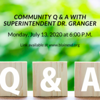 Community Q & A Monday, July 13, 2020
