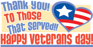 Thank You Veterans!