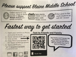 Blaine Middle School Fundraiser