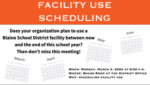 Facility Use Scheduling Meeting