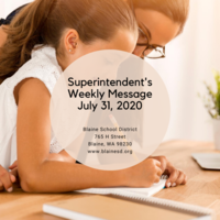 Superintendent's Message July 31, 2020