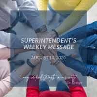 Superintendent's Message August 14, 2020