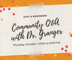 Community Q & A Thursday, Oct. 1, 2020