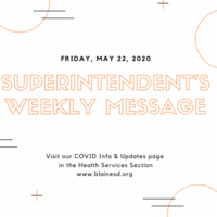 Superintendent's Message May 22, 2020