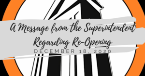 Superintendent's Message Regarding Re-Opening
